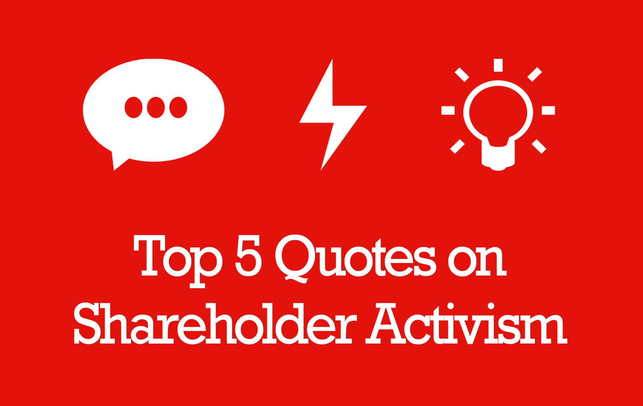 shareholders activism